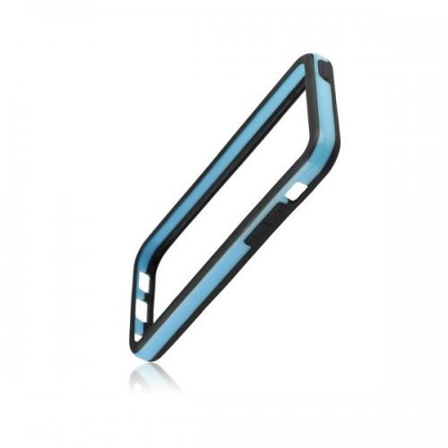 Силиконов Bumper - Apple iPhone 5S черен със синьо