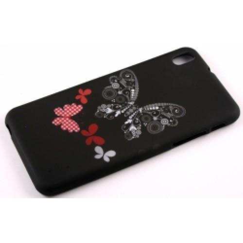 Силиконов калъф Design - HTC One M8 пеперуда