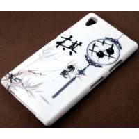 Силиконов калъф Design - Sony Xperia Z1 китайски йероглифи