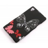 Силиконов калъф Design - Sony Xperia Z1 пеперуда