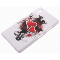 Силиконов калъф Design - Sony Xperia Z1 сърца