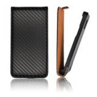Кожен калъф за Samsung Galaxy s3 Flip Carbon