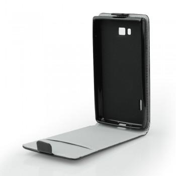 Калъф-тефтер със силиконова рамка - Samsung Galaxy Note 3 Neo черен