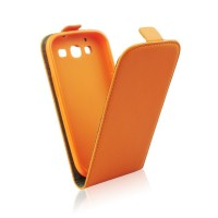 Калъф тефтер Slim flexi за Apple iPhone SE orange