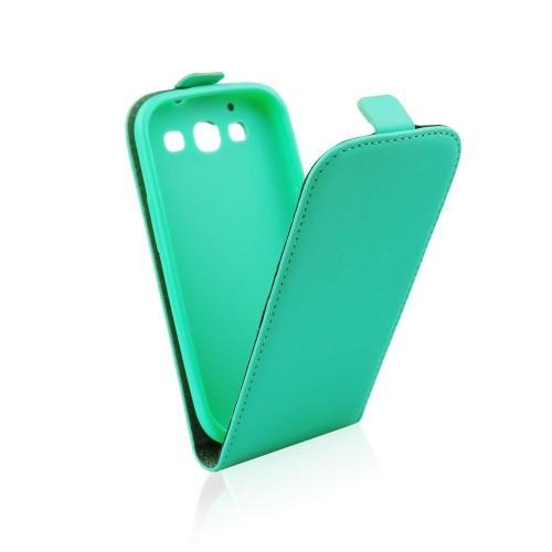 Калъф тефтер Slim Flexi - Samsung Galaxy J1 син