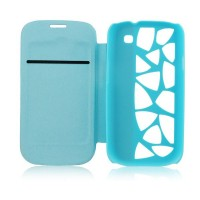 Калъф Flip Cover Water Cube за Samsung I9195 Galaxy S4 mini светло син
