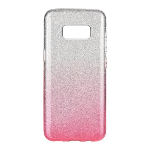 Гръб Forcell SHINING - Samsung Galaxy S9 прозрачно - розов