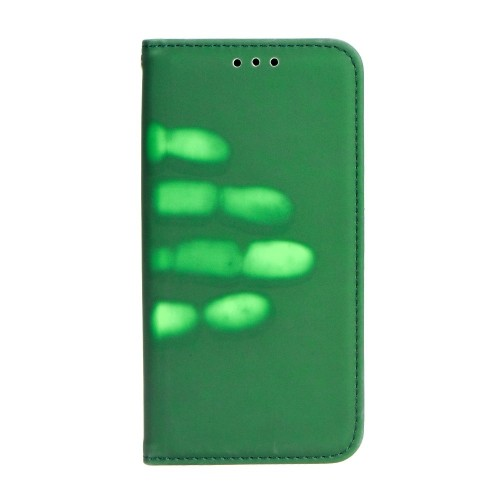 Калъф Thermo Book - HTC U11 зелен