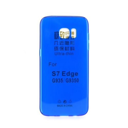 Силиконов калъф Ultra Slim - Samsung Galaxy S7 Edge син