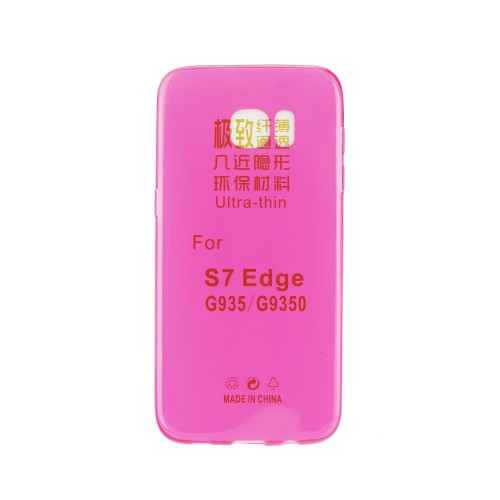 Силиконов калъф Ultra Slim - Samsung Galaxy S7 Edge розов