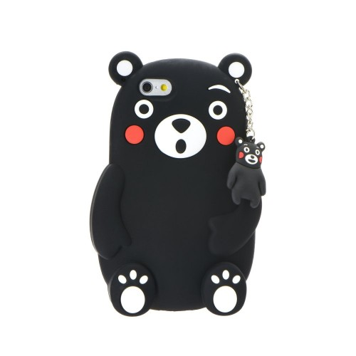 3D гръб - Apple iPhone 7 Black bear