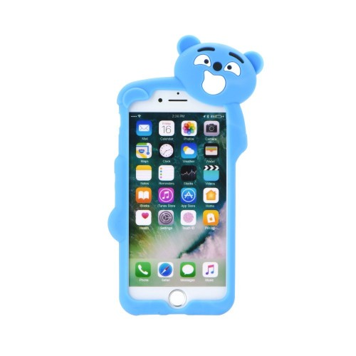 3D гръб - Apple iPhone 7 Blue bear