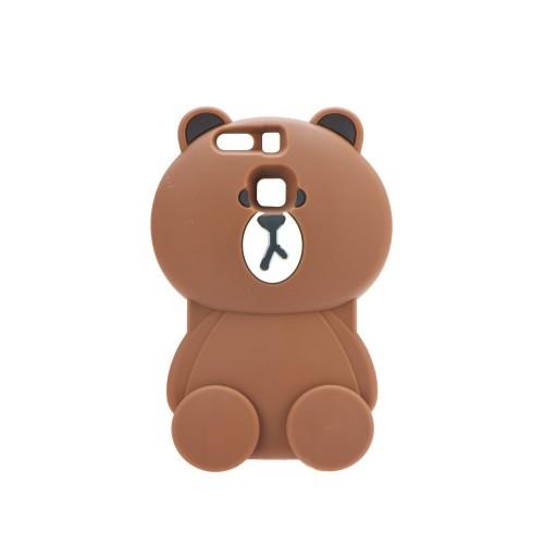 3D гръб - Huawei P9 Lite Brown bear