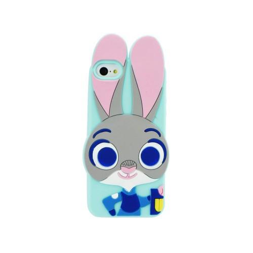 3D гръб - Apple iPhone 6 Green rabbit