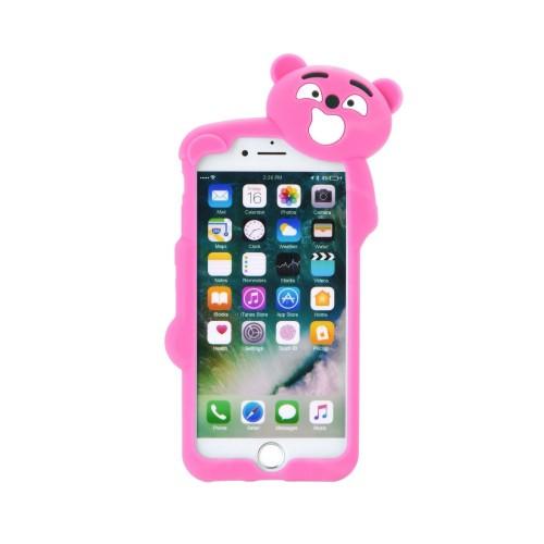 3D гръб - Huawei P9 Lite Pink bear