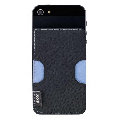 Кожен гръб от естествена кожа BACKY - Samsung Xcover 2 черен