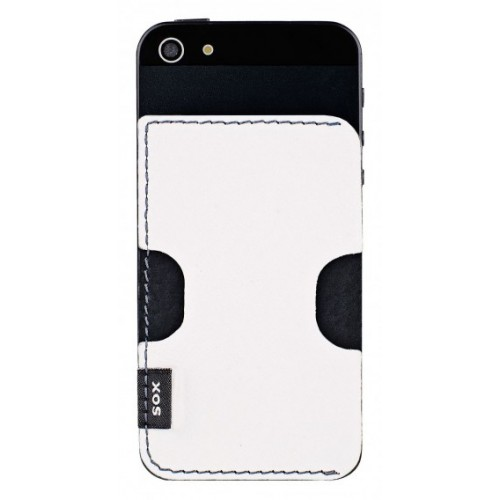 Кожен гръб от естествена кожа BACKY - Samsung Xcover 2  бял