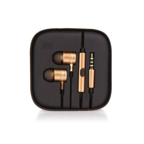 Слушалки HF Stereo box metal MI - Huawei Y6 Pro 2017 златни