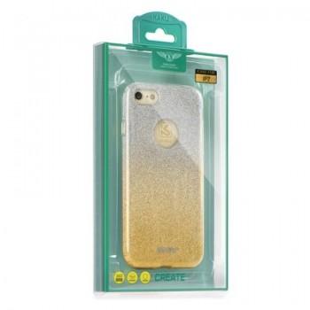 Калъф Kaku Ombre - Apple iPhone 8 златен