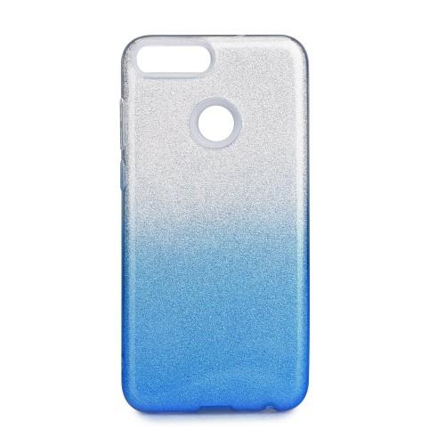 Гръб Forcell SHINING  - Huawei P Smart бял-син