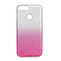 Гръб Forcell SHINING  - Huawei P Smart бял-розов