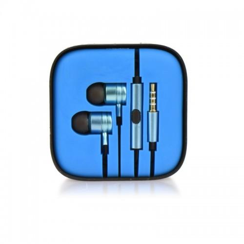 Слушалки HF Stereo box metal MI - Huawei Y6 Pro 2017 сини