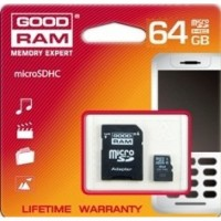 Карта памет Micro SD на GOODRAM 64GB class 10 с адаптер