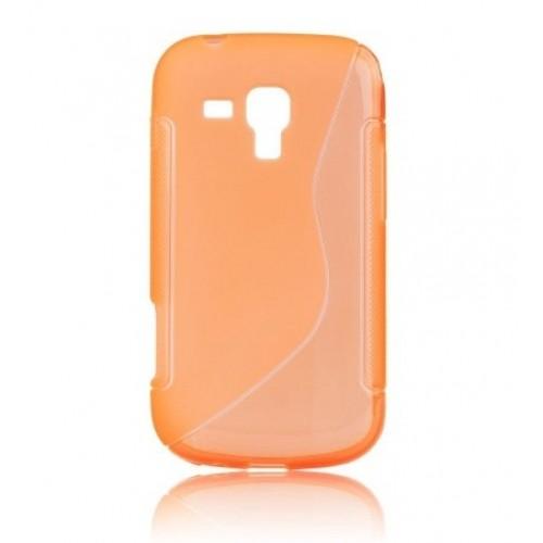 Силиконов калъф S-line - Nokia Lumia 635 оранжев