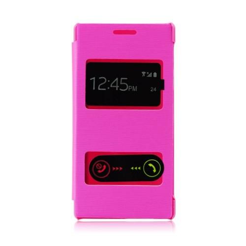 Калъф S-View - Samsung Galaxy S4 розов