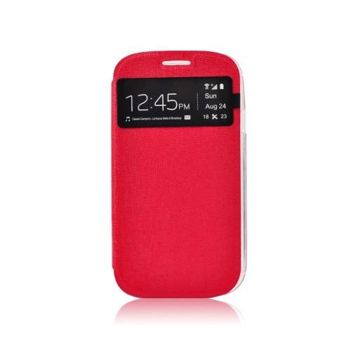 Калъф S-View Flexi - Samsung Galaxy Core 2 червен