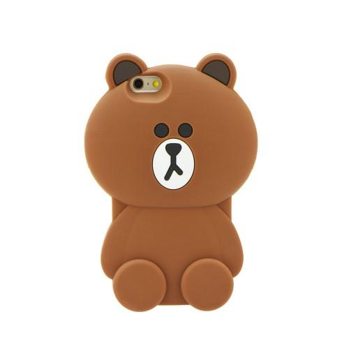 3D гръб - Apple iPhone 6S кафява мечка