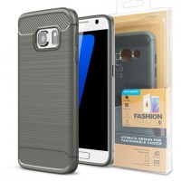 Калъф FORCELL Carbon - Samsung Galaxy J7 сив