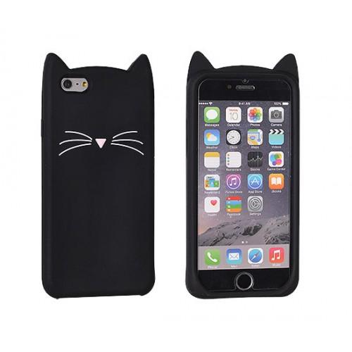 3D гръб Funny - Samsung Galaxy A3 2017 черна котка