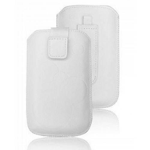 Кожен калъф - LG G2 Mini бял