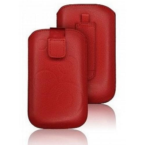 Кожен калъф - BlackBerry Q5 червен