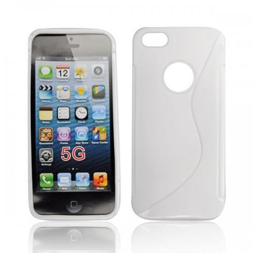 Силиконов гръб - Apple iPhone 5S бял