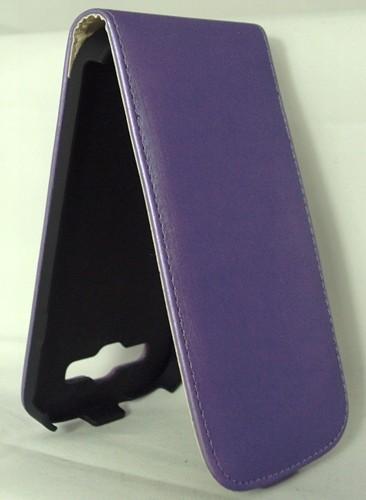 Вертикален калъф тефтер-флип за Huawei P6 лилав