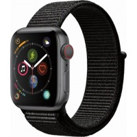 Apple Watch Series 4 GPS+Cellulare 40mm Space Grey Aluminium Case with Black Sport Loop