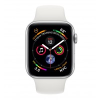 Apple Watch Series 4 GPS 44mm Silver White Sport Band