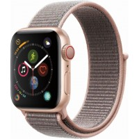 Apple Watch Series 4 GPS+Cellulare 40mm Gold Aluminium Case with Pink Sand Sport Loop