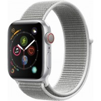 Apple Watch Series 4 GPS+Cellulare 40mm Silver Aluminium Case with Seashell Sport Loop