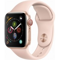 Apple Watch Series 4 GPS+Cellulare 40mm Gold Aluminium Case with Pink Sand Sport Band